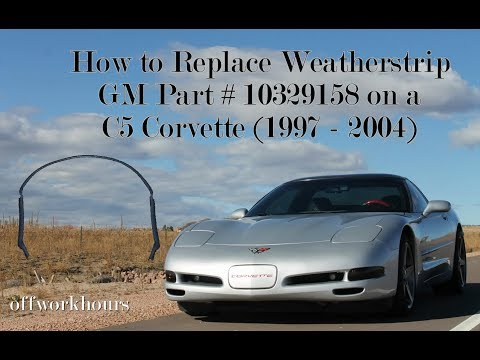 Corvette Weatherstrip Replacement C5 (1997-2004) Part # 10329158