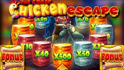 x750 win / The Great Chicken Escape free spins compilation!