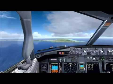 UAL1258 Landing in Cayman Islands RWY 08.