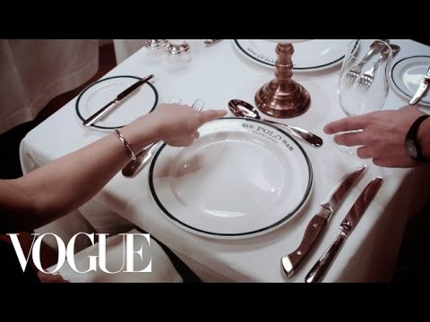 Modern Etiquette: Dining Out with Chloe Malle - Vogue