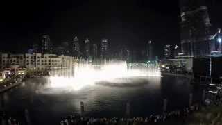 The Dubai Fountain 2014 : Thriller Michael Jackson Go Pro Hero3+