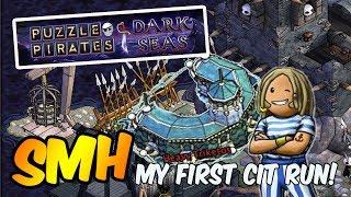 Puzzle Pirates Dark Seas - My First Cit Run SMH on Obsidian!