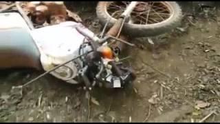 Resultado do ataque do Bufalo a moto.