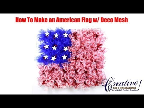 How To Make An American Flag With Deco Mesh - American Flag Deco Mesh Wreath