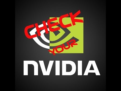 Check if Nvidia Graphics card is working or not !