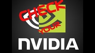 check if nvidia graphics card is working or not