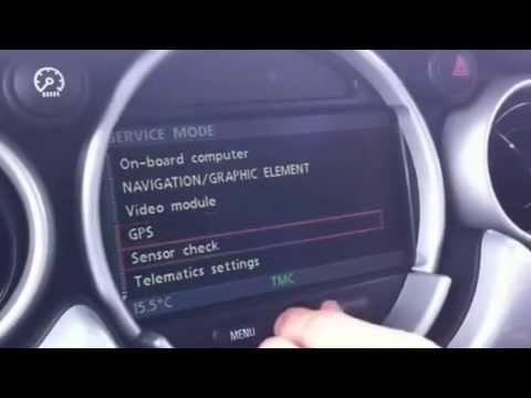 Mini Cooper Mk4 Sat Nav Hidden Menu Youtube