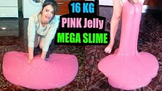 16 Kilos Pink Jelly Mega Slime English Diy Fun