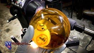 Woodturning the BB-8 Alumilite Resin & Maple Burl Hybrid Sphere