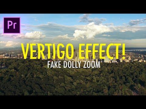 VERTIGO EFFECT! How to Fake a Cinematic Dolly Zoom in Adobe Premiere Pro (CC 2017 Tutorial) (Drone)