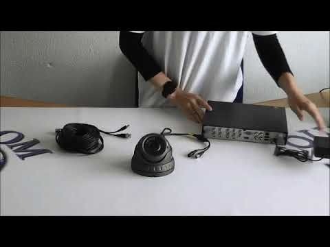 How to connect a CCTV Camera to a Dvr Recorder - YouTube