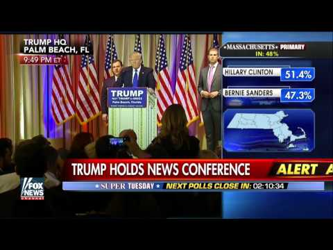 Trump on string of Super Tuesday wins, tough night for Rubio
