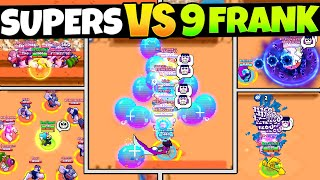 EVERY Brawlers Super vs 9 Franks! (satisfying)