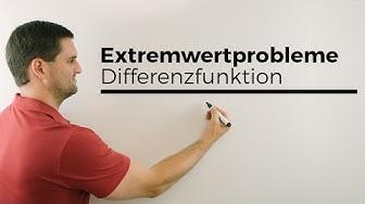 Extremwertprobleme, Differenzfunktion, maximaler/minimaler senkrechter Abstand