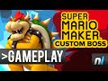 Super Mario Maker: Custom MANDATORY Boss Fight - Bowser's Decrepit Castle