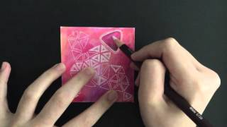 how to draw jewels/jems/gems for Zentangle art