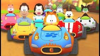 5 İngilizce Çocuklar için Komik Çizgi film Oyunları HD Garfield Kart Oyunu - Garfield Kart Yarışı - #