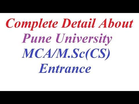 Complete Detail About Pune University MCA/M.Sc(CS) Entrance