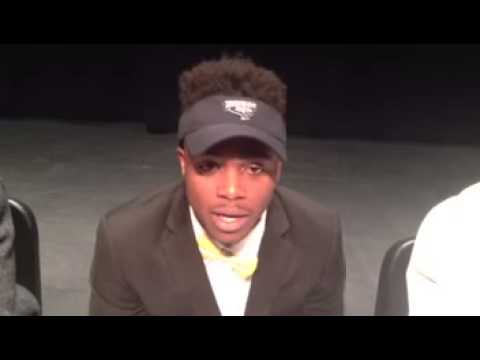 Lyrics Klugh cornerback and kick returner for Byrnes talks about his commitment to Towson