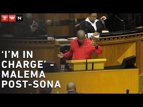 'I'm in charge!' - Malema at post-Sona debate