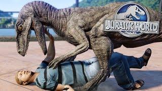 DEATH IN JURASSIC WORLD!!! - Jurassic World Evolution FULL PLAYTHROUGH | Ep41 HD