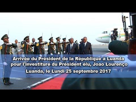 Arrivée du Président de la République à Luanda pour l'investiture du Président élu, Joao Lourenço