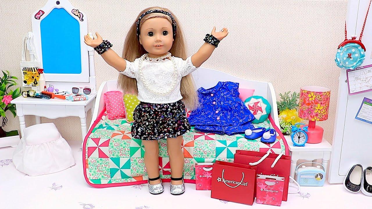 AG Doll Shopping for NEW Glitter Dress
