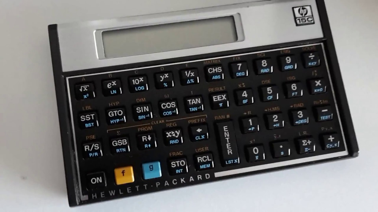 Hewlett-Packard HP-15C Calculator Self Testing