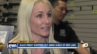 Black Friday shoppers buy ammo ahead of new laws