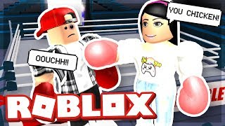 MY GIRLFRIEND TRIED TO BEAT ME UP - ROBLOX RO-BOXING