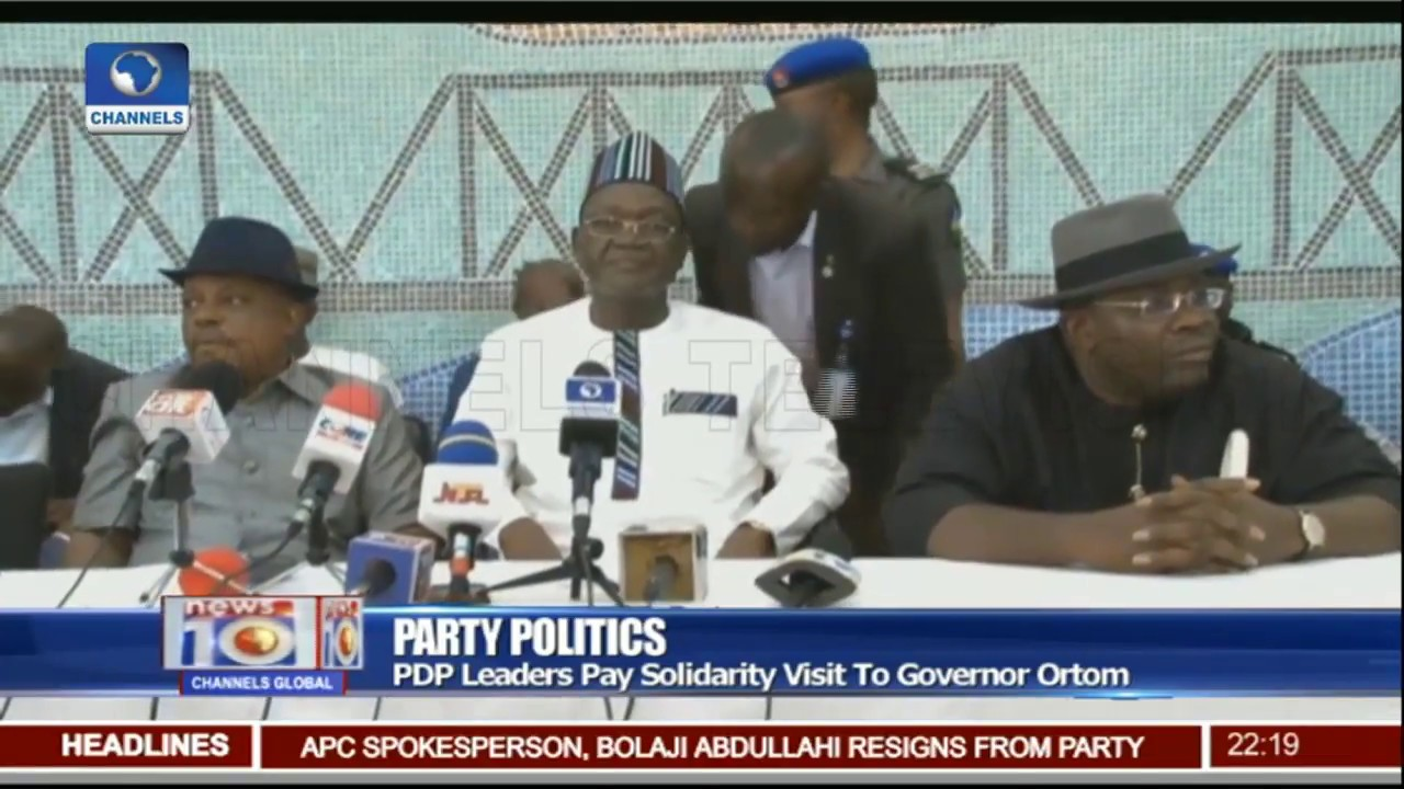 Benue Now A 'No-Go-Area For APC', Ortom Warns As Secondus, Dickson Visit