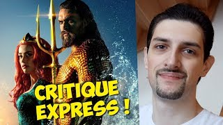 Critique de Aquaman en moins de 2 secondes (No Spoil) !!