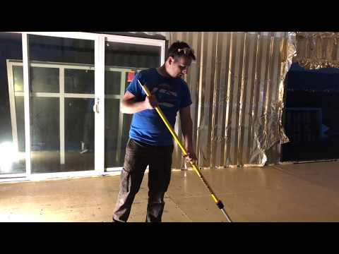 Building a shipping container home, Sealing the floor step 1