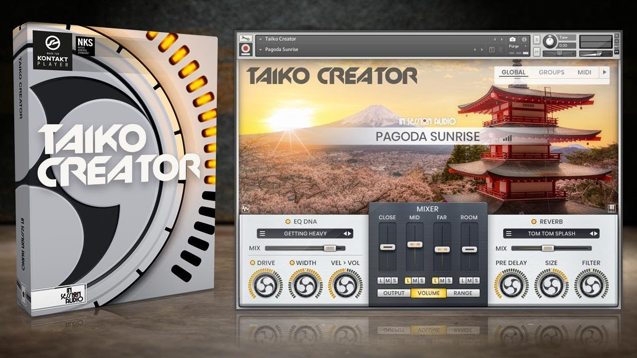 Taiko Creator - Drum Sample Library for Kontakt Player - In Session