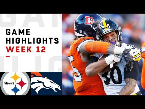 Steelers vs. Broncos Week 12 Highlights | NFL 2018