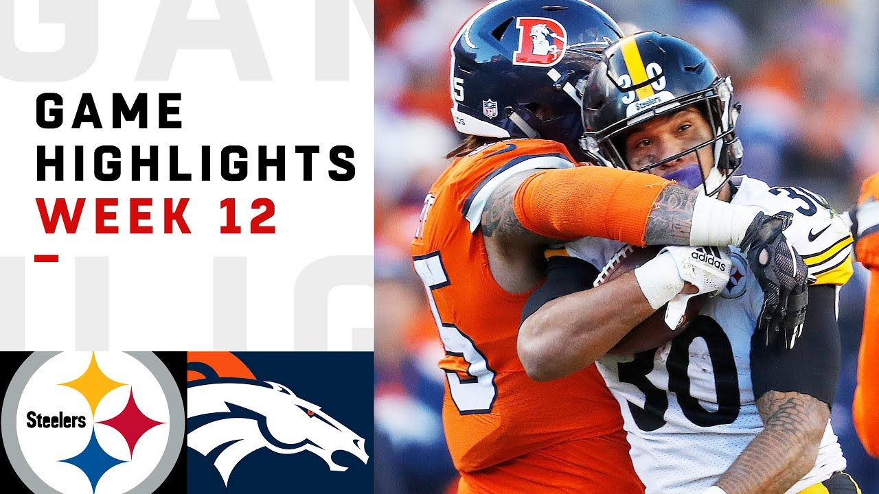 d380fd4cd6d Steelers vs. Broncos Week 12 Highlights