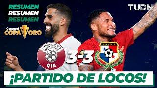 Resumen y goles   Qatar 3-3 Panamá   Copa Oro 2021   Grupo D