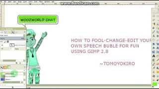 How To Edit Woozworld Speech Bubbles Using Gimp