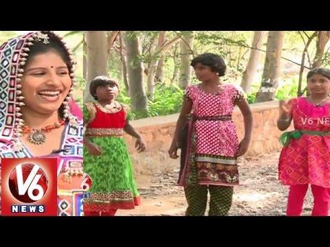 "Janapadam With Child Folk Singers ""Likhitha"" || "" Rishitha""|| Akshitha || V6 News"