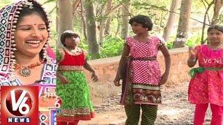 janapadam with child folk singers likhitha rishitha akshitha v6 news