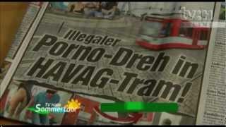Sexvideo in Halles Straßenbahn