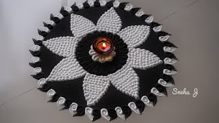 Diwali special innovative rangoli design by Sneha J