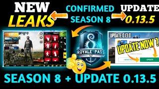 PUBG Mobile 0.13.5 Update+ All Season 8 Rewards Leaks New | Season 8 New Confirmed Leaks