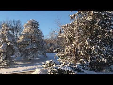 Beautiful winter scenes from Mount Snow, Vermont