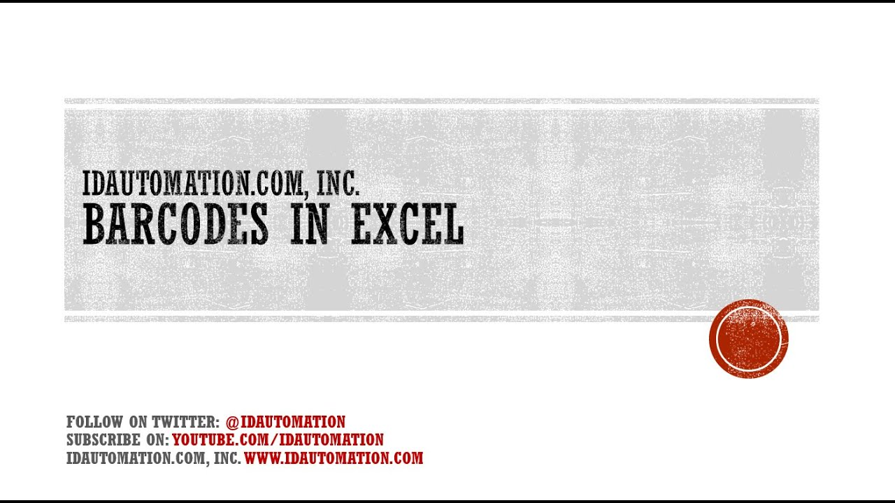 Microsoft Excel Barcode Add-in Tutorial for 2003, 2007 ...