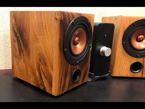 DIY Desktop Speakers from Reclaimed Barn Wood