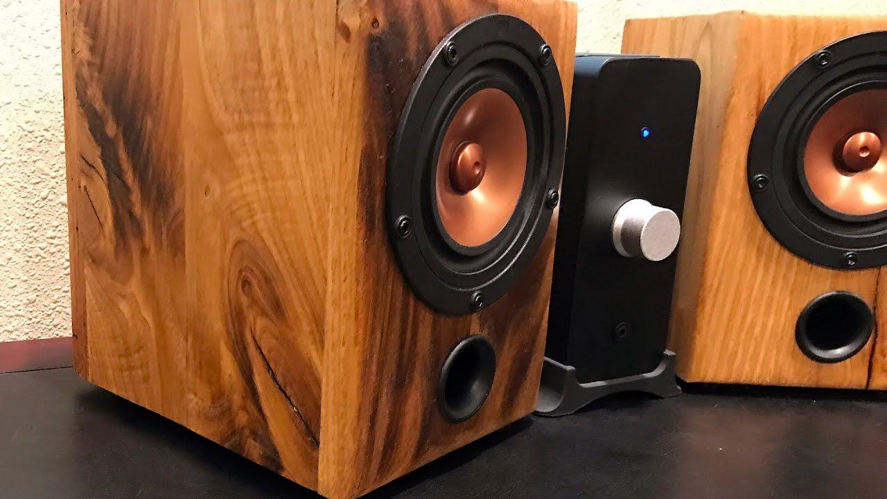 Diy Desktop Speakers From Reclaimed Barn Wood Youtube