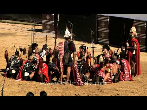 Old-style folk song presented by Chang tribe at Hornbill Fest