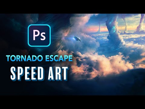 Escaping TORNADOS In Photoshop - Photo Manipulation
