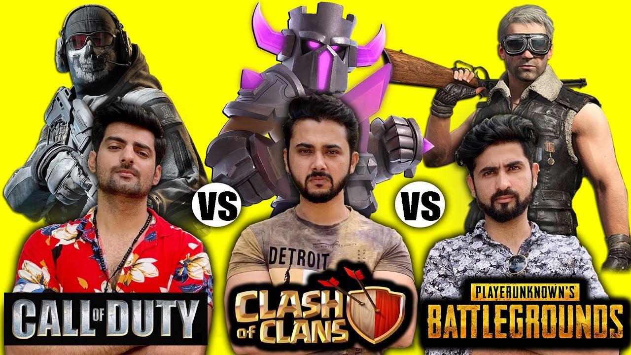 Clash Of Clans Vs Pubg Vs Call Of Duty Mobile - Fans Forever(Part 1)   Khelte Rahoo